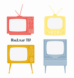 retro television icons vector image