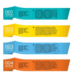 Set of Colorful Horizontal Paper Banners vector image