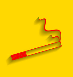 smoke icon great for any use red icon vector image vector image