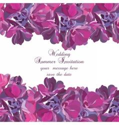 Spring Summer Flower card vector image