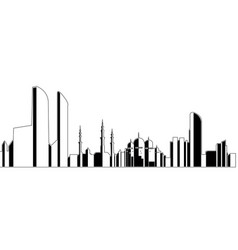abu dhabi cityscape vector image vector image