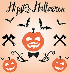 Happy Halloween in for invitation vector image vector image