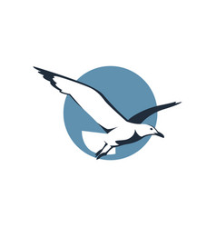 icon with seagull vector image vector image