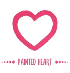 Painted hand drawn outlined heart vector image vector image