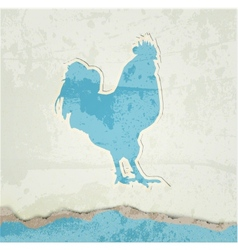 Red rooster retro poster vector image vector image