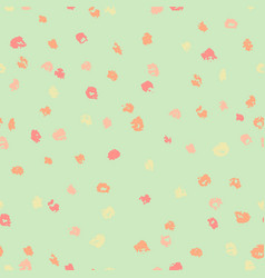 seamless green and yellow ink dots pattern vector image