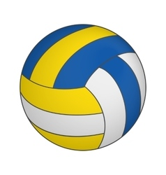 Volleyball 3d isometric icon vector image