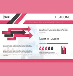 Graph set bar infographic icon colorful financial vector