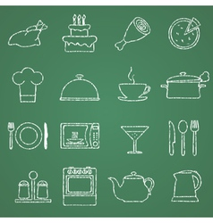 Pictures of kitchen facilities vector image vector image