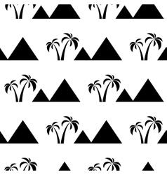 pyramids seamless on white vector image