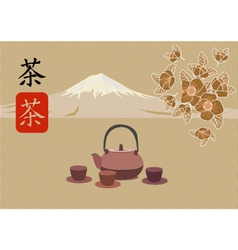 Sakura Tea ceremony vector image vector image