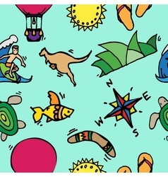 Australia tourism nature and culture pattern vector image
