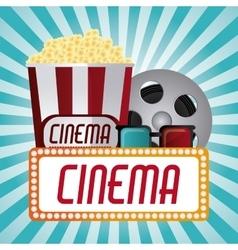 Cinema and movie design vector