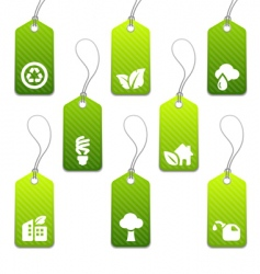 eco tags vector image vector image