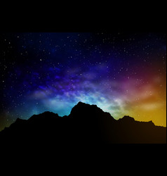 landscape with mountains and night sky vector image