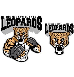 Mma fighter leopard vector
