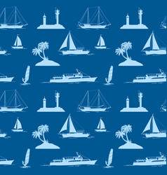 objects related to sea seamless vector image