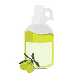 Olive oil bottle vector image