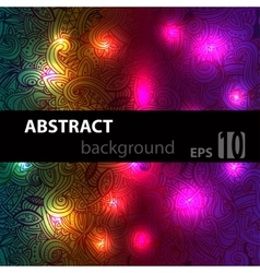 Abstract disco glowing doodle of background vector