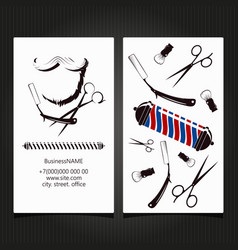 barbershop business card concept vector image
