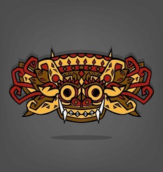 Barong Balinese traditional art vector