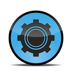 blue button setting for your use vector image
