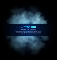 blue color fog or smoke isolated on transparent vector image