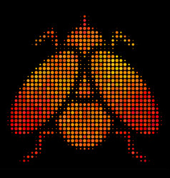 Bright dotted fly insect icon vector