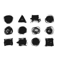 brush stroke black paint ink stain banner vector image