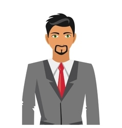 businessman with beard icon vector image