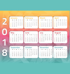 calendar-three-color-2 vector image