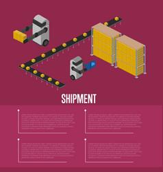 cargo shipment isometric banner vector image