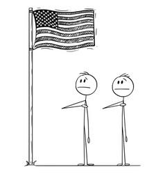 cartoon two men or businessmen or politicians vector image