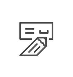 check line icon vector image