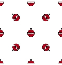 Christmas flat icon pattern vector image