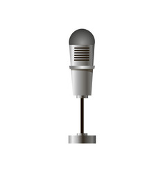 Close-up of a stand-alone stage microphone in vector