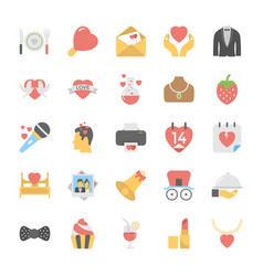 collection of love and romance icons vector image