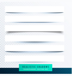 Collection of paper shadows effect vector