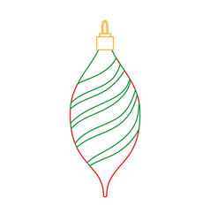Color line oval ball to merry christmas decoration vector