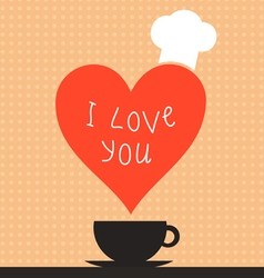 Cooking love2 vector