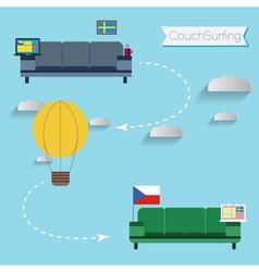 Couchsurfing vector
