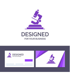 creative business card and logo template lab vector image