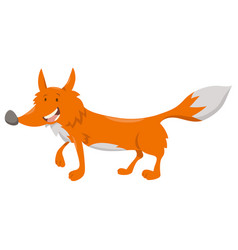 Cute cartoon fox animal character vector