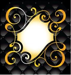 Decorative swirl background vector