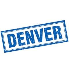 Denver blue square grunge stamp on white vector