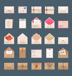 envelopes and letters mail signs labels greeting vector image