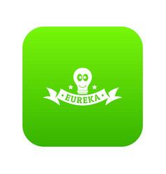 Eureka icon green vector