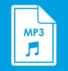File mp3 icon white vector