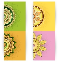 Floral ornament cards design vector image