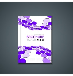 flyer or banner Brochure template vector image